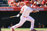 Sep 21, 2014, Texas Rangers vs Los Angeles Angels of Anaheim - Albert Pujols Photographic Print by Victor Decolongon