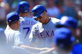 Sep 21, 2014, Texas Rangers vs Los Angeles Angels of Anaheim - Leonys Martin Photographic Print by Victor Decolongon