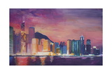 Hong Kong Skyline at Night Giclee Print by Markus Bleichner