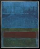 Blauw, groen en bruin Print van Mark Rothko