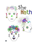 She Math Photographic Print by Thinker Collection STEM Art by Lisa C Clark