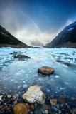 Rainbow on Ice Lake Photographic Print by Piriya Photography
