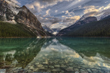 Clouds and Mtns Reflect in Mountain Lake Photographic Print by Ascent Xmedia