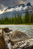 River Sweeps by under Mountain Range, Spring Photographic Print by Ascent Xmedia