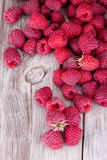 Sweet Raspberry on Wooden Tables Photographic Print by  boule