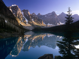 Moraine Lake and the Rockies Photographic Print by Brian Lawrence