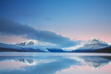 Winter Twilight at Lake Mcdonald Photographic Print by  Henry@scenicfoto.com