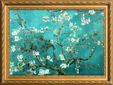 Van Gogh Almond Branches Poster with Gilded Faux Frame Border Poster