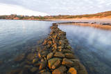 The Archaeological Stone Walled Fish Traps at Stillbay in the Western Cape Province. Southern Afric Photographic Print by Peter Chadwick