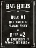 Barregler – Bartendern har alltid rätt, engelska Affischer