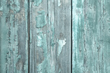 Turquoise or Mint Green Wooden Old Patterned Background in Vintage Style. Photographic Print by  Imagesbavaria