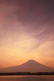 Mount Fuji and Lake Tanuki, Shizuoka Prefecture Photographic Print by  SHOSEI/Aflo