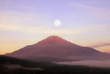 Mount Fuji and Lake Yamanaka, Yamanashi Prefecture Photographic Print by  SHOSEI/Aflo