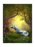 Woodland Unicorn Print by Corey Ford