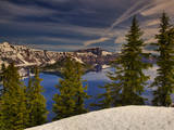 Early Morning on Crater Lake Photographic Print by By Michael A. Pancier