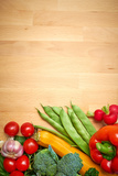 Healthy Organic Vegetables on a Wood Background Photographic Print by  ZoomTeam