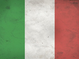 Italy Flag Distressed Art Print Poster Poster