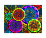 Atlas CERN Collisions on High-Multplicity pPb Photographic Print by Thinker Collection STEM Art by Lisa C Clark
