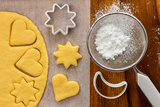 Making Sugar Cookies with Cookie Cutters Photographic Print by  Melica73
