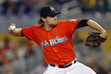 Sep 21, 2014, Washington Nationals vs Miami Marlins - Nathan Eovaldi Photographic Print by Eliot J. Schechter