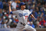 Sep 21, 2014, Los Angeles Dodgers vs Chicago Cubs - Carlos Frias Photographic Print by Jonathan Daniel