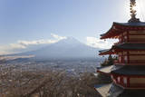 Mount Fuji & Chureito Pagoda, Chubu, Japan Photographic Print by Peter Adams