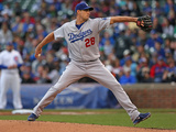 Sep 21, 2014, Los Angeles Dodgers vs Chicago Cubs - Jamey Wright Photographic Print by Jonathan Daniel