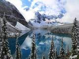 First Snow at Moraine Lake, Banff Np, Canada Photographic Print by Jan Zwilling