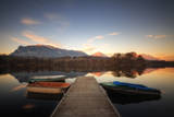 Boats Moored by Boardwalk at Lake St. Helen Photographic Print by Omalorig's HDR Photography