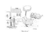 """""""Move the car."""" - New Yorker Cartoon Premium Giclee Print by Liza Donnelly"""