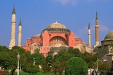 Garden in Front of a Museum, Aya Sofya, Bosporus, Istanbul, Turkey Photographic Print by Glow Images