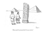 """""""Why would I be proud of this? It's my to-do list."""" - New Yorker Cartoon Premium Giclee Print by Zachary Kanin"""