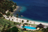Overhead of Jalouise Hilton Resort. Photographic Print by Holger Leue