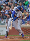 Sep 21, 2014, Los Angeles Dodgers vs Chicago Cubs - Adrian Gonzalez Photographic Print by Jonathan Daniel