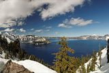 Crater Lake Panorama Photographic Print by Leon C Salcedo