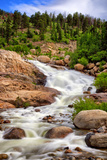 Waterfall Cascading down a Mountainside Photographic Print by Kim Kozlowski Photography, LLC
