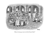 """Why do I always get stuck at the Kids' Round Table?"" - New Yorker Cartoon Premium Giclee Print by Benjamin Schwartz"