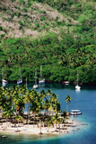Overhead of Marigot Bay. Photographic Print by Holger Leue
