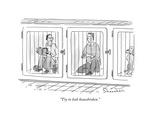 """Try to look housebroken."" - New Yorker Cartoon Premium Giclee Print by Danny Shanahan"