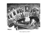"""No, he left here at 8:07."" - New Yorker Cartoon Premium Giclee Print by Corey Pandolph"
