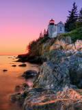 Pastel Bass Harbor Lighthouse Fotografisk tryk af Kevin A Scherer