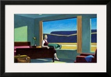 Western Motel Framed Giclee Print by Edward Hopper