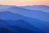 View of Ridges from Oconoluftee Overlook Photographic Print by Dennis Flaherty