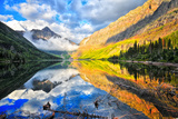 Upper Two Medicine Lake at Sunrise Photographic Print by J.  LINDHARDT Photography