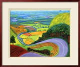 Colline de Garrowby Poster par David Hockney