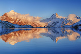 Bachalpsee with Mountains, Sunset. Photographic Print by Martin Ruegner