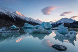 Sunrise at Tasman Glacier River Photographic Print by Yi Jiang Photography