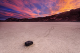 Moving Rock at Death Valley Photographic Print by Piriya Photography