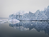 Glacier Reflected in Still Lake Photographic Print by Niels Busch
