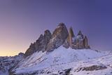 Alpenglow on the Tre Cime Di Lavaredo (Dolomites - Italy) Photographic Print by Alberto Simonetti